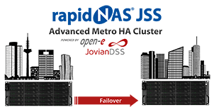 rapidNAS®JSS – Advanced Metro HA Cluster